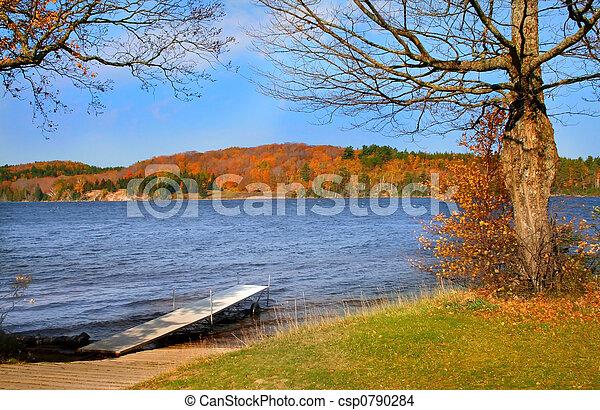 Scenic Lake During Autumn - csp0790284