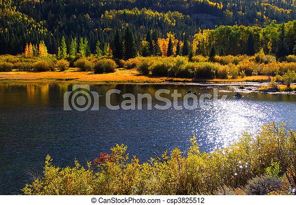 Scenic lake in San Juan mountains - csp3825512