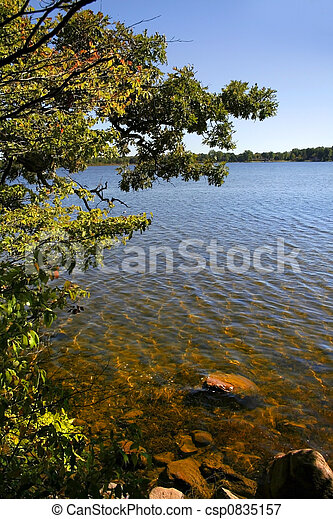 Scenic Lake Shore - csp0835157