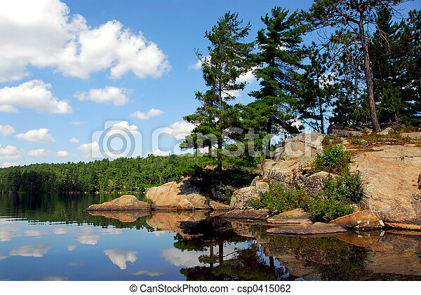 Scenic lake - csp0415062