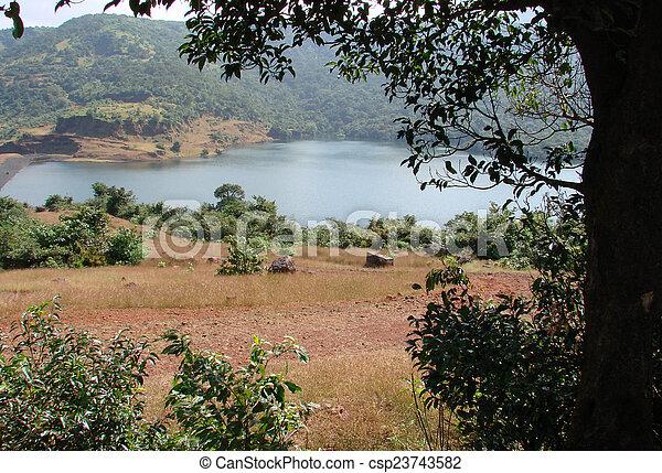 scenic lake view - csp23743582