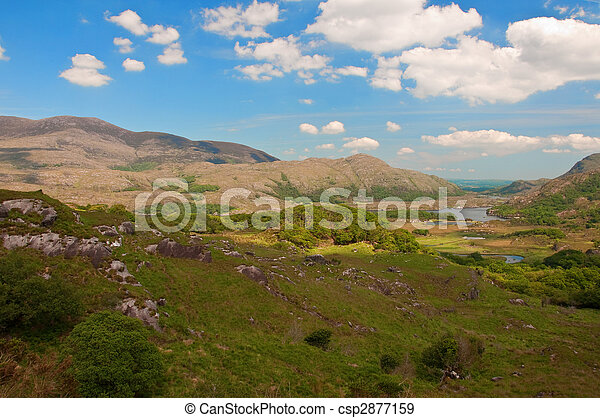scenic landscape with lake and mountains - csp2877159