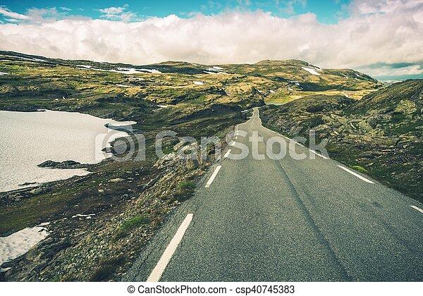 Scenic Mountain Road - csp40745383