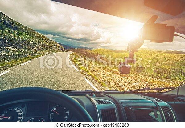 Scenic RV Road Trip - csp43468280