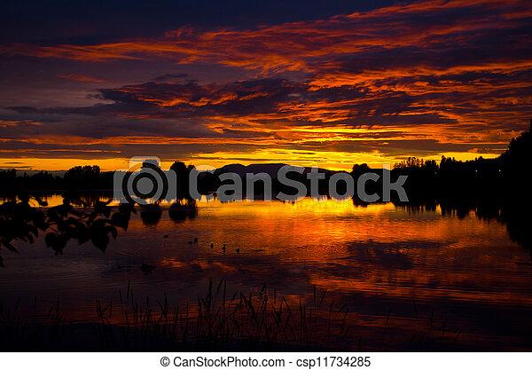 Scenic sunset - csp11734285
