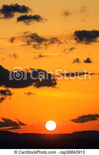 Scenic view of a beautiful sunset - csp36843913