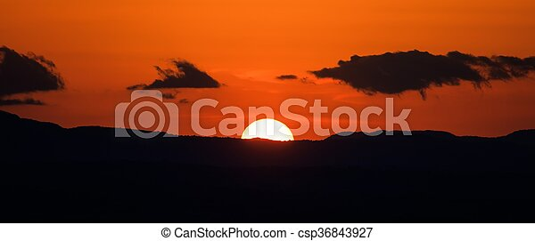 Scenic view of a beautiful sunset - csp36843927
