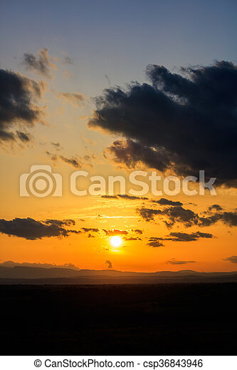Scenic view of a beautiful sunset - csp36843946