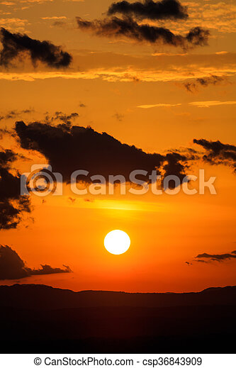 Scenic view of a beautiful sunset - csp36843909