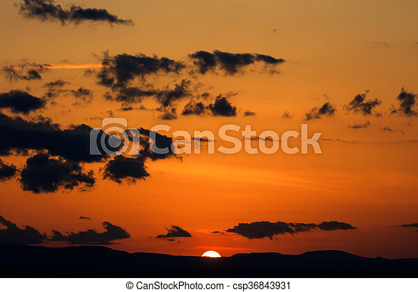 Scenic view of a beautiful sunset - csp36843931