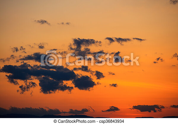 Scenic view of a beautiful sunset - csp36843934