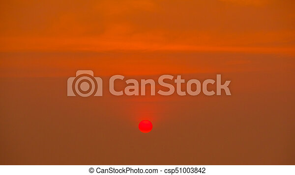 Scenic view of beautiful sunset above - csp51003842