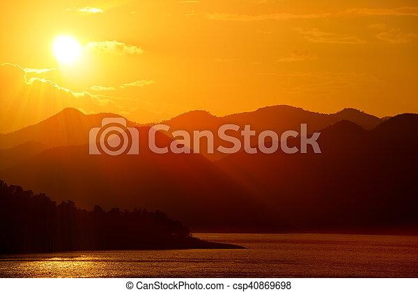 Scenic view of beautiful sunset - csp40869698