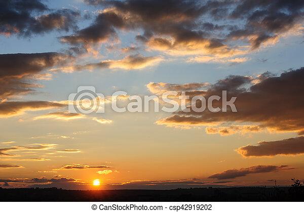 Scenic view of beautiful sunset - csp42919202
