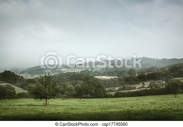 Scenic view of English countryside - csp17745560