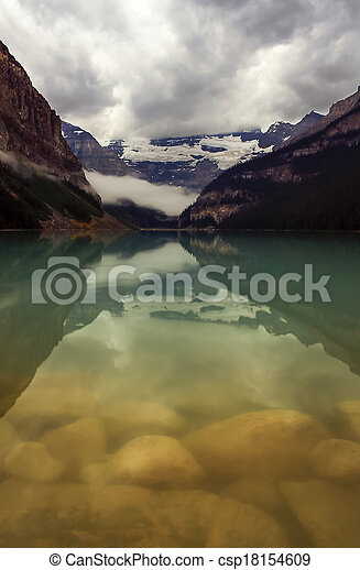Scenic View of Lake Louise - csp18154609