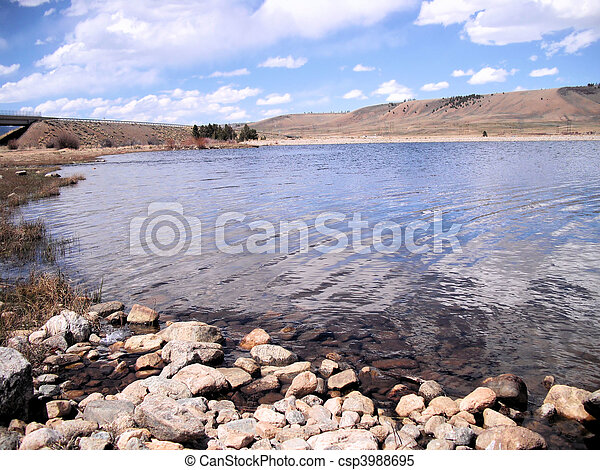 Scenic view of Lake - csp3988695