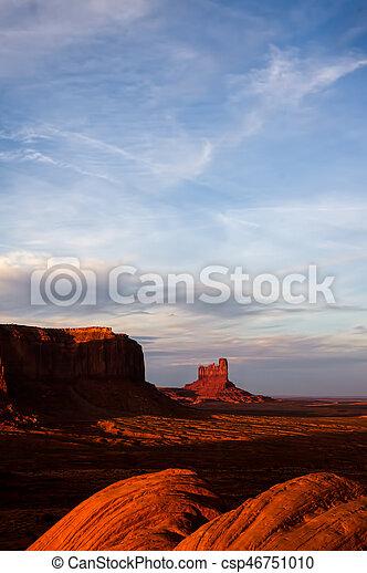 Scenic View of Monument Valley Utah USA - csp46751010