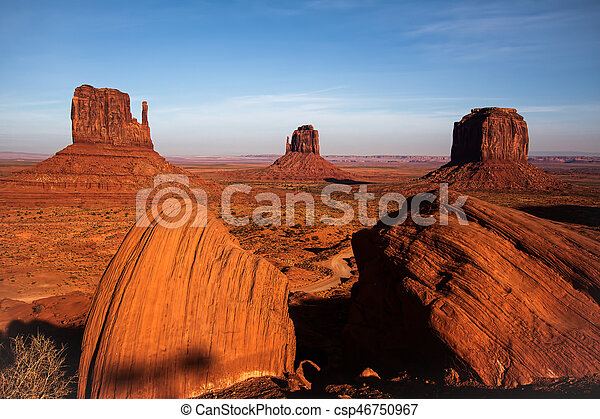 Scenic View of Monument Valley Utah USA - csp46750967