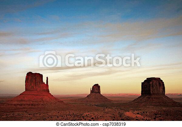 Scenic view of Monument Valley Utah USA - csp7038319