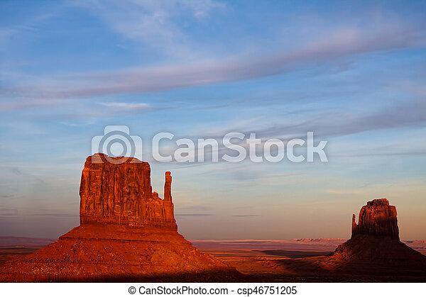 Scenic View of Monument Valley Utah USA - csp46751205