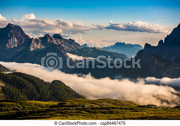 Scenic view of the beautiful landscape in the Alps - csp84467475