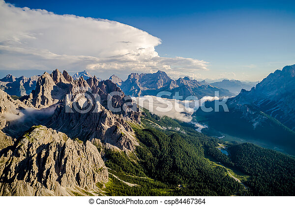Scenic view of the beautiful landscape in the Alps - csp84467364