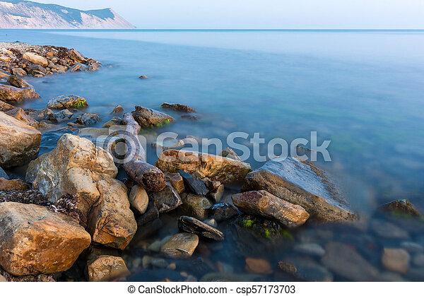 Scenic view of the Black Sea, Anapa, Russia - csp57173703