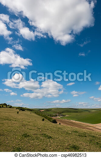 Scenic View of the Rolling Sussex Countryside - csp46982513