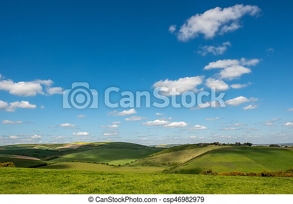 Scenic View of the Rolling Sussex Countryside - csp46982979