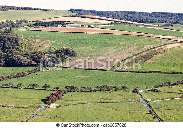 Scenic view of the rolling Sussex countryside - csp6857628