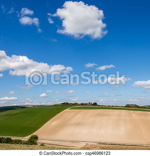 Scenic View of the Rolling Sussex Countryside - csp46986123