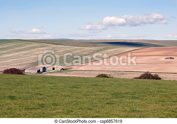 Scenic view of the rolling Sussex countryside - csp6857619