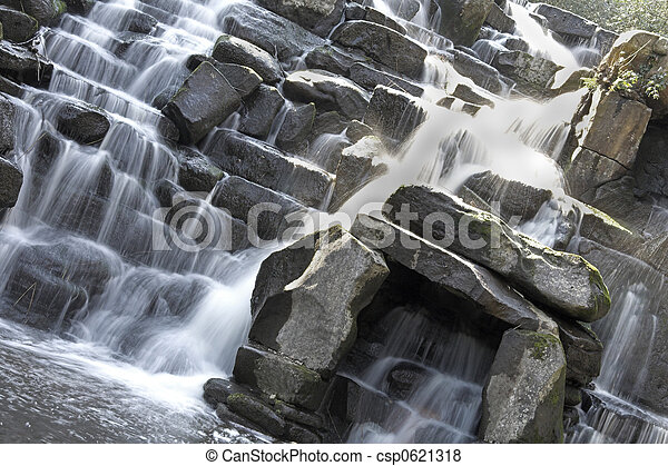 Scenic waterfall - csp0621318