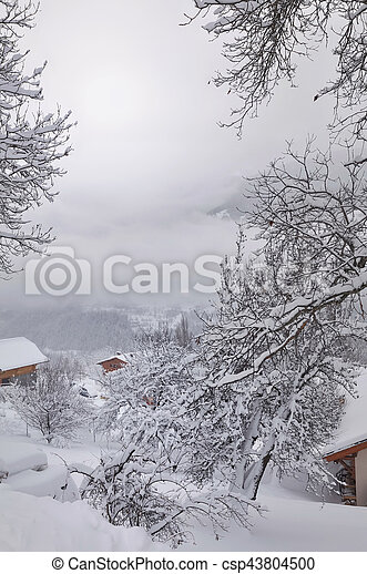 scenic winter landscape - csp43804500