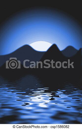 scenics, západ slunce - csp1586082