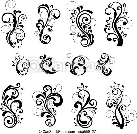 schémas floraux - csp5591271