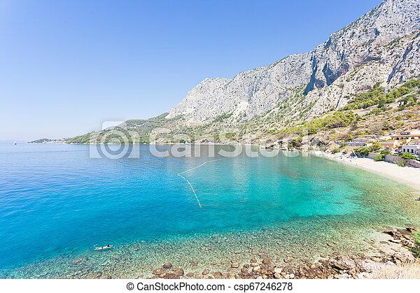 schöne , überblick, -, bucht, über, kroatien, drasnice, drasnice, dalmatien - csp67246278