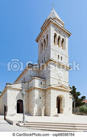 schöne , altes , pakostane, pakostane, -, kroatien, architektur, kirche - csp68598764