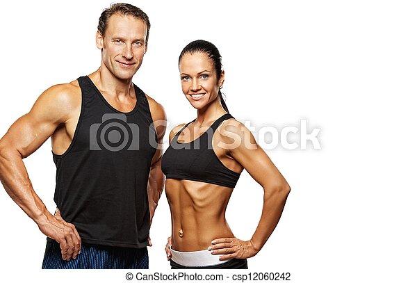 schöne , athletische, ehepaar. - csp12060242