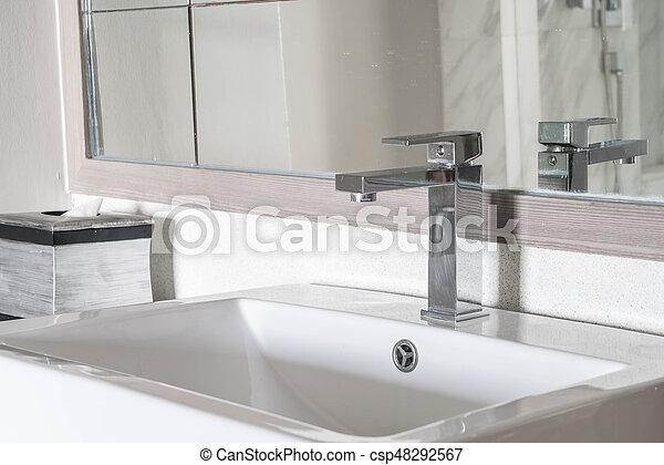 schöne , badezimmer, dekoration, luxus, hintergrund, inneneinrichtung,  sinken