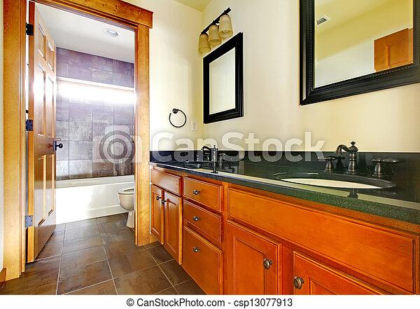 schöne , badezimmer, modern, neu , luxus, interior., daheim