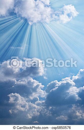 schöne , blauer himmel - csp5850576