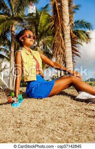 Schwarze Mädchen Teenager-Beute