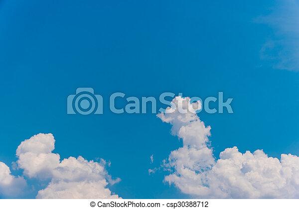 schöne , blaues, thailand, wolkenhimmel, himmelsgewölbe - csp30388712