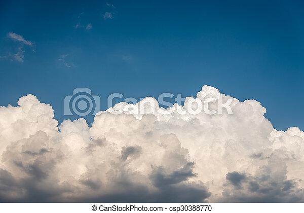 schöne , blaues, thailand, wolkenhimmel, himmelsgewölbe - csp30388770