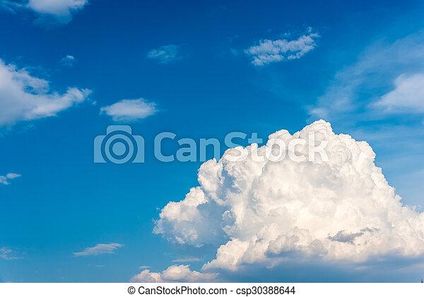 schöne , blaues, thailand, wolkenhimmel, himmelsgewölbe - csp30388644