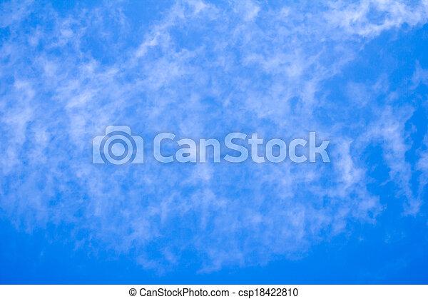 schöne , blaues, wolkenhimmel, himmelsgewölbe - csp18422810