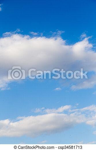 schöne , blaues, wolkenhimmel, himmelsgewölbe - csp34581713