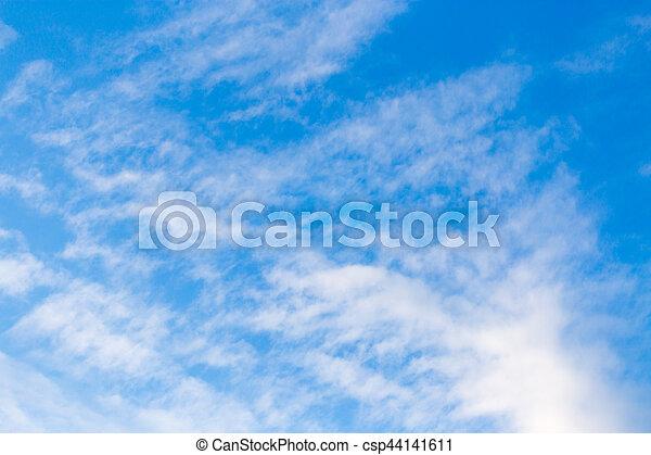 schöne , blaues, wolkenhimmel, himmelsgewölbe - csp44141611